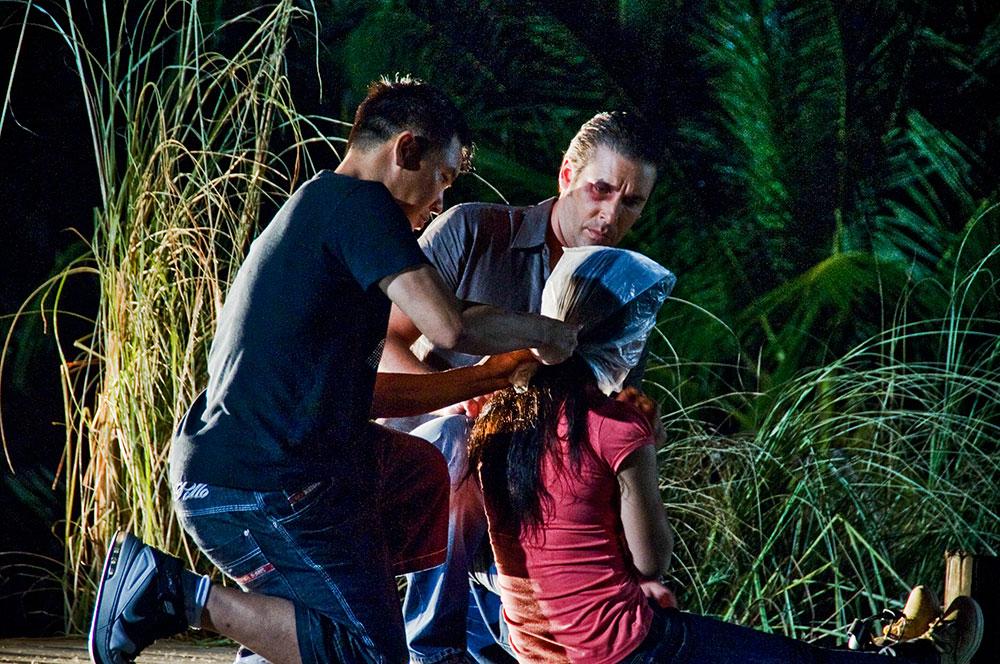 Stunt choreographer with Bebe Pham and Jay Laisne